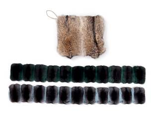 Four Ralph Rucci Fur Pieces: One Coyote Muff, Two