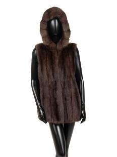 Mink Fur Hooded Vest, Attributed to J. Mendel