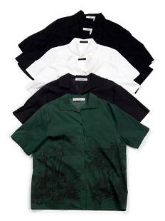 Six Designer Short Sleeve Button Down Tops, Including