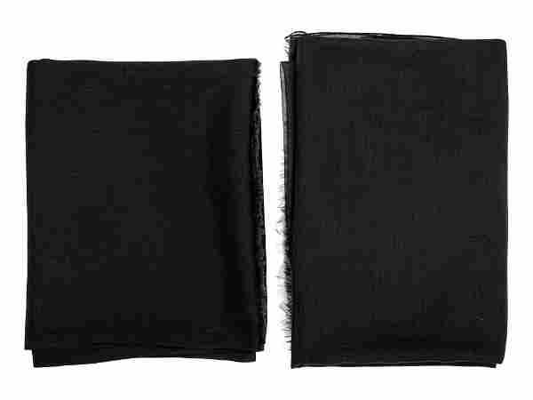 Two Cashmere Scarves: One Giorgio Armani, One Hermes