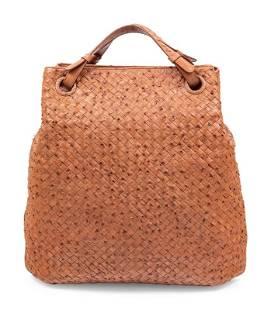 Bottega Veneta Ostrich Intrecciato Tote Bag
