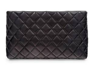 Chanel Quilted Leather Clutch, 2012