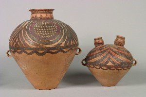 416: Two Chinese Neolithic Style Pottery Vessels, Heigh