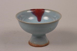 425: A Chinese Junyao Style Ceramic Footed Dish, Height