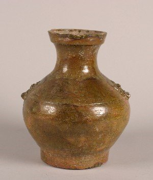 426: A Han Dynasty Style Glazed Jar, Height 14 inches.