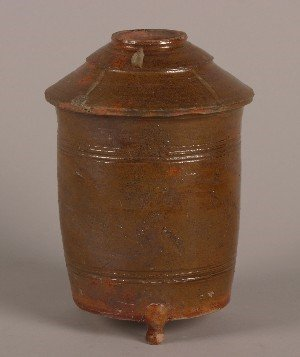 430: A Chinese Glazed Ceramic Grainery, Height 11 inche