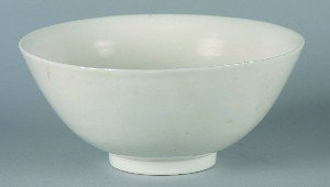 435: A Chinese White Glazed Bowl, Height 3 1/4 inches,
