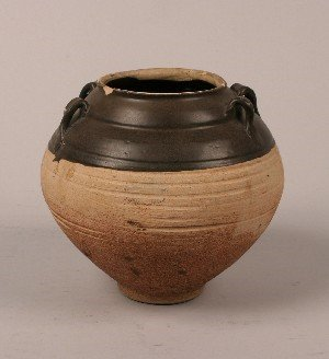 437: A Chinese Song Style Ceramic Jar, Height 8 inches.