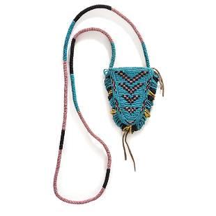 Blackfeet Beaded Hide Tab Pouch