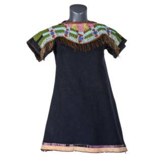Northern Plains Child's Beaded Trade Wool Dress