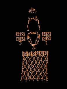 A Set of Tibetan Ritual Bone Apron and Jewelry