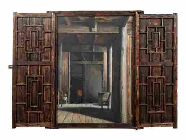 He Datian (Chinese, b. 1950) Farmer's Apartment, 1987