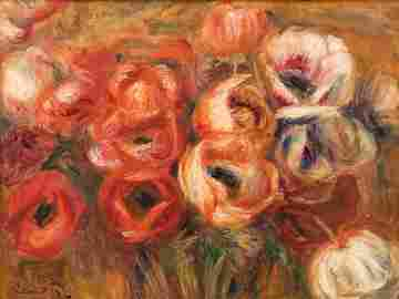 Pierre-Auguste Renoir (French, 1841-1919) Les Fleurs,