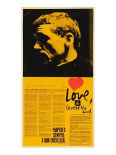 Corita Kent (American, 1918-1986) Love at the End, I'm