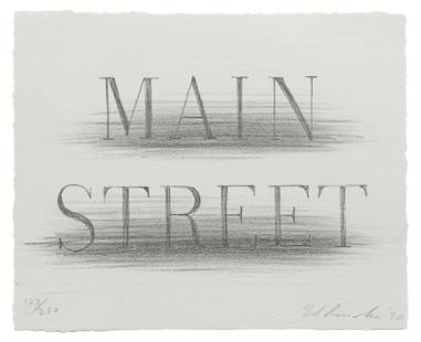 Ed Ruscha (American, b. 1937) Main Street (from Harvey