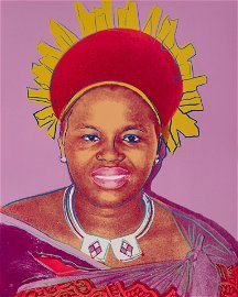 Andy Warhol (American, 1928-1987) Queen Ntombi Twala of