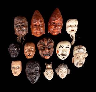 13 Wood Theatre Masks