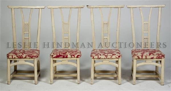 A Group of Four American Side Chairs, Button, Fics, Ree