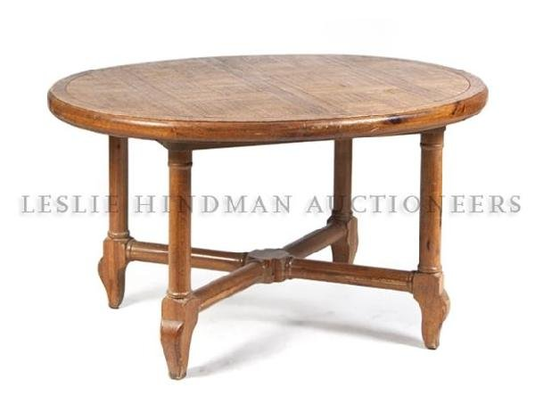 An American Pine Parquetry Extension Table, Height 29 3