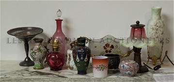 A Collection of Decorative Table Articles, Height of ta