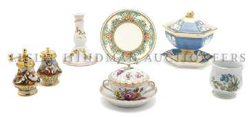 A Collection of Continental Porcelain Articles Height