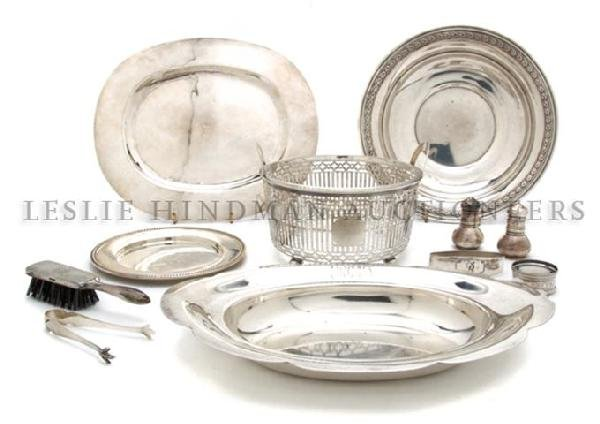 A Group of Sterling Silver Articles, Width of widest 10