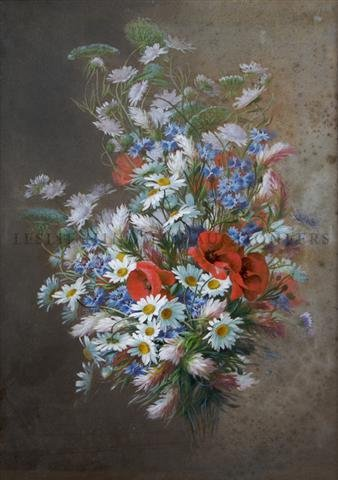 Raoul De Longpre, (French 1859 - 1911), Flowers of the