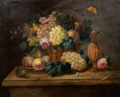 Eduard Wuger (Austrian, 1830-1880) Still Life with