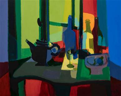 Marcel Mouly (French, 1918-2008) La croisee jaune vert,