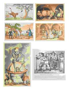Thomas Rowlandson (British, 1756-1827) A group of six