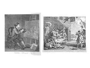William Hogarth (British, 1697-1764) A pair of prints