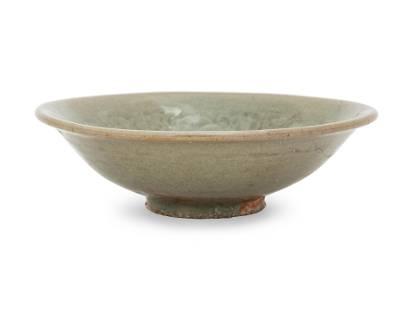 A Chinese Yaozhou Incised Celadon Glazed Porcelain Dish