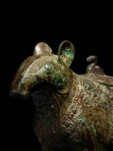A Chinese Bronze Tapir-Form Covered Vessel