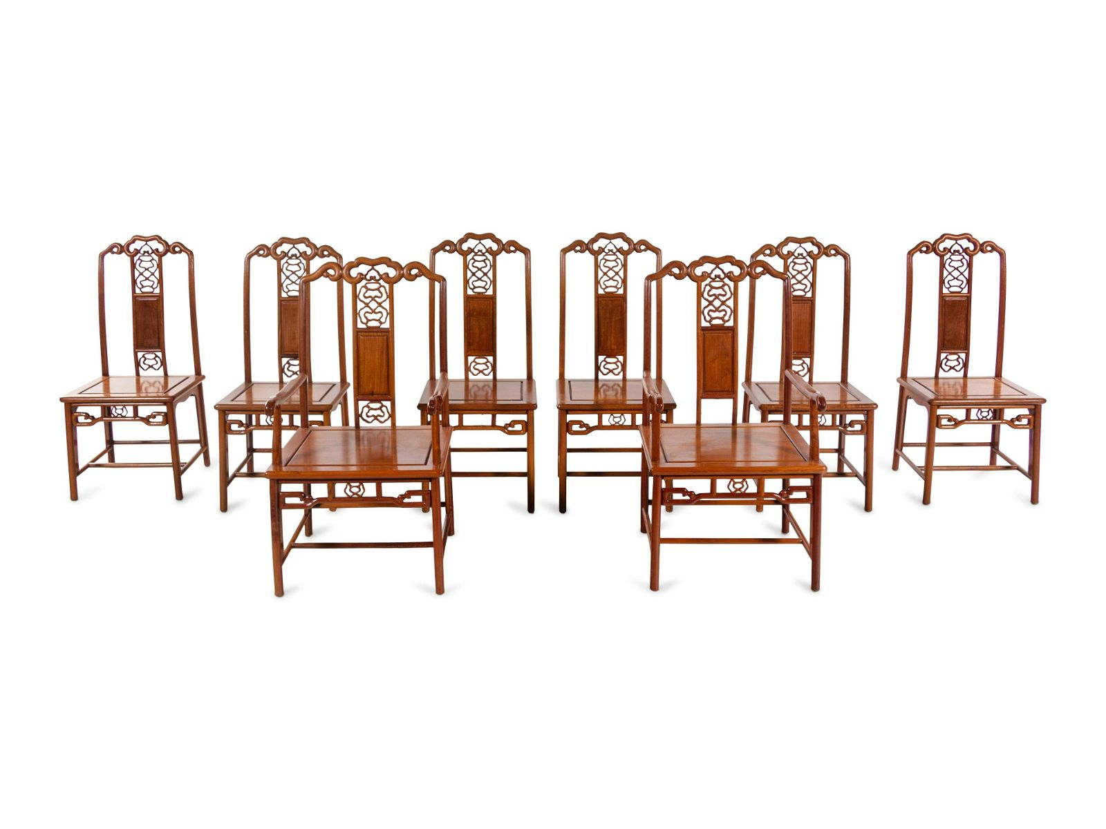 A Set of ChineseHuali Dining Table and Chairs
