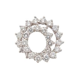 TIFFANY & CO., DIAMOND SWIRL BROOCH