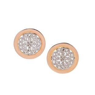 PAIR OF YELLOW GOLD AND PLATINUM CLIP BROOCHES