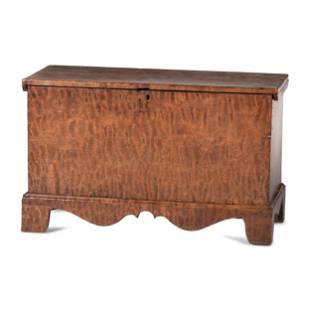A Chippendale Tiger Maple Blanket Chest