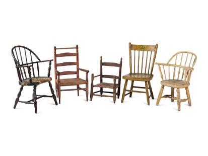 Five Children's Chairs