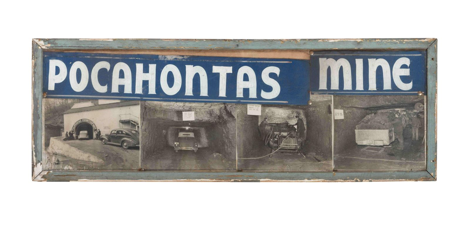 A Pocahontas Mine Framed Advertising Ephemera Group