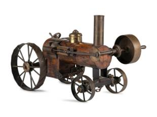 A Scratch-Made Wood and Metal Steam Tractor