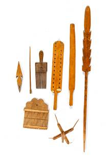 A Group of Weaving Tools