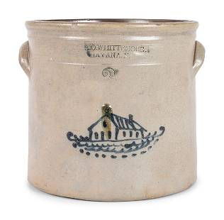 An A.O. Whittemore Cobalt Decorated Stoneware