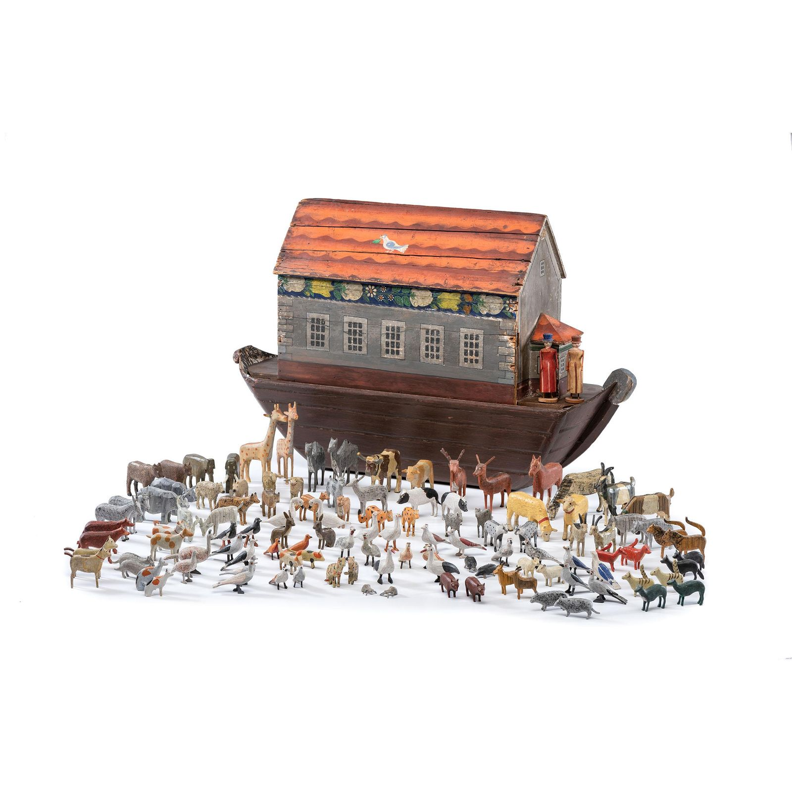 A Large Noah's Ark with Lift-Off Cover and Large Number