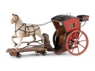 A Horse Drawn Carriage Pull Toy