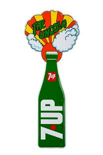 A Tin 7-UP 'Uncola' Advertising Sign