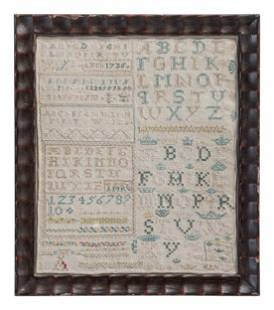 An English Needlework Alphabet Sampler