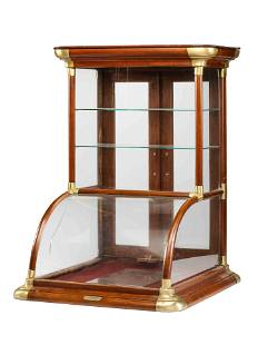 Two Wooden Frame Countertop Display Cases