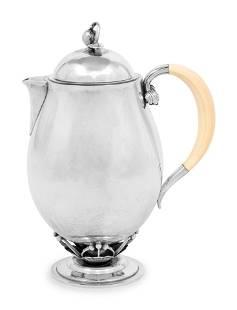A Georg Jensen Silver Coffee Pot