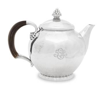 A Georg Jensen Silver Teapot