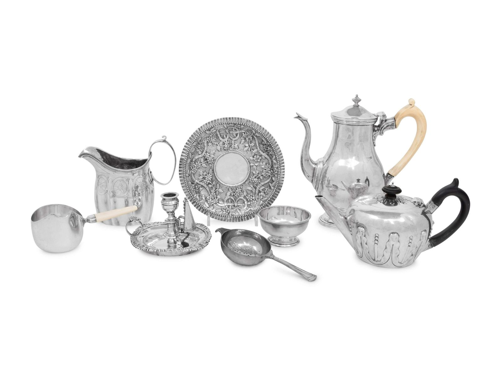 Six English Silver Table Articles